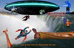 Mutant Monte Blue at Niagara Falls 9 1 2017 Part 3 UFO Ray of Hope (Monte Mendoza) Tags: montemendoza superman greenlantern aquaman ironman ufo mutant mutation abducted abduction canoe octopus niagarafalls