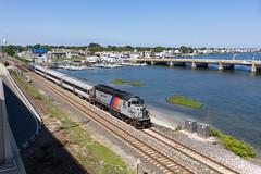 Ocean Access (sully7302) Tags: nj transit north jersey coastline newark division belmar new train passenger emd gp40ph2b 4207 bridge water summer trains railroad transport sun