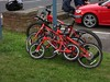We Are Family (aj.gardner) Tags: bicycle bicycles bike bikes matching red parked families dayout tourofbritain2017 seatonsluice northumberland summertime ride bikeride cycling cycle coordinated