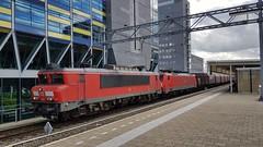 RN 1615 + DB 189 051-6 voor lege staaltrein. Leiden Centraal, 13 september 2017. (verhaarthom) Tags: trein train spoorweg nederland netherlands leiden leidencentraal railion deutschebahn ns1600 br189
