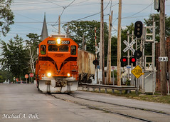 CSS 2007 @ Michigan City, IN (Michael Polk) Tags: chicago south shore bend railroad gp382 freight train street running michigan city indiana 10th 11th