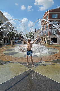 Enjoying the Fountain in Downtown Charleston South Carolina