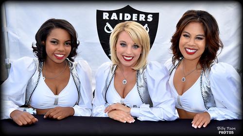 2017 Oakland Raiderettes Loren, Kelsi & Amanda
