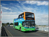 The Bridge on the River Yar (Jason 87030) Tags: bridge yar kwai president volvo plaxton needles 1991 southernvectis river yarmouth holiday island iow isleofwight colourful image nice weather hols august 2017 bus vehicle wdl691