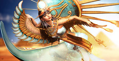 Egyptian Divine (meriluu17) Tags: moonamore poseidon egypt egyptian divine goddess history fantasy magical dynamic sance sun isis cleopatre regal portrait people pyramids wing royal eye