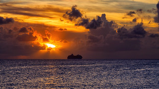 Sunset @ Maho Beach St.Martin