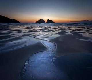 Twilight, Holywell Bay