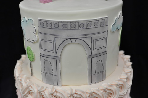 Enjoyable Paris Birthday Cake A Photo On Flickriver Personalised Birthday Cards Akebfashionlily Jamesorg