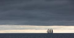 All by herself (Per-Karlsson) Tags: sailship sail sailing ship maritime tallship schooner sea seascape sweden ingo skonare grey clouds