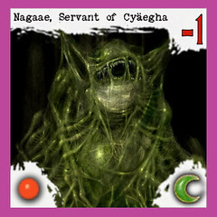 """Nagaae, servant of Cyäegha"" 2/4 -  Arkham Horror Monster, front side (dizzyfugu) Tags: cyäegha nagaae vaeyen lovecraft cthulhu arkham horror great old one servant race monster board game epic dizzyfugu strange eons"