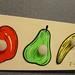 WP190, inlegplank 4 st. fruit