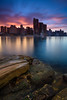Radiance (Rodney Campbell) Tags: longexposure sunrise cityskyline gnd09 cpl cityscape balmain water littlestopper clouds balmaineast newsouthwales australia au