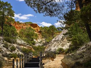 Cliffs overlooking Praia De Falesia, Portugal