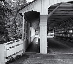 Through the bridge (Tim Ravenscroft) Tags: ashuelot coveredbridge newhampshire hasselblad x1d hasselbladx1d monochrome blackandwhite blackwhite