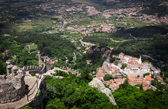Sintra from above (dlerps) Tags: daniellerps europe lerps lisboa lisbon portugal sigma sony sonyalpha sonyalphaa77 lerpsphotography sintra pt sintracascais sintracascaisnaturalpark parquenaturaldesintracascais moorishcastle castleofthemoors castelodosmouros landscape view mountains mountainrange hill city cityscape urban castle castlewall fortress keep stronghold ancient history historic town forrest forest green