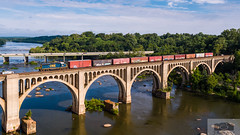 CSX Y122-11 JRB Drone 6158 (HeritageNY) Tags: standard cab csx yn3 local drone james river bridge