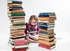 Read! (threechairs) Tags: read books learn study fiction child portrait school girl glasses student