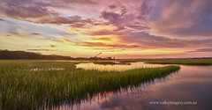 Atlantic Beach Sunset (Valley Imagery) Tags: sunset water reflection usa reeds atlantic beach north carolina sony a99ii palm suites