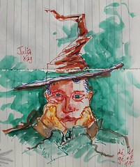 Julia Kay pour JKPP (dege.guerin) Tags: portrait aquarelle sketch