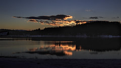 Winter Sunset on the Flats (jessicalowell20) Tags: bay blue clouds coastal maine newengland northamerica northatlantic ocean orange rural shoreline snow sunset water waterfront white winter wiscasset yellow