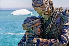 Sealer's Memorial (Brett of Binnshire) Tags: hdr elliston manipulations lrhdr clearskies ocean locationrecorded water lightroomhdr highdynamicrange newfoundland canada weather iceberg ice