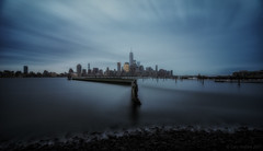 Dawn Of The City (Gary Walters (offline for a bit)) Tags: newyorkskyline morning wtc bluehour landscape longexposure nyc dawn sonya7r smoothreflections mood water 15mm irix