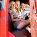 Three Beauties in a Truck