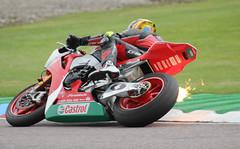 Dan Linfoot. Honda flamethrower. (welloutafocus) Tags: honda fireblade racing bsb superbike