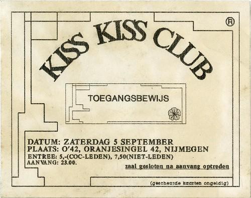 1992 KissKiss O42 toegangsbewijs