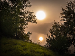 The Two Suns (Jims_photos) Tags: water wimberleytexas texas trees unitedstates outdoor outside adobelightroom adobephotoshop shadows sunnyday sunrise daytime jimallen jimsphotos jimsphotoswimberleytexas lightroom landscape cloudy clouds nopeople morninglight iphone7