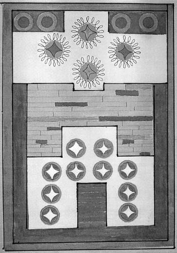 The layout of  Zatrikion - 'Byzantine' chess