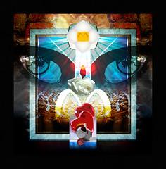 Fantastic Dreams (mfuata) Tags: fantastic fantastik dream hayal eye göz heart kalp white rose beyaz gül symbol simge beam ışın