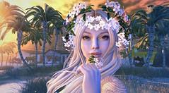 Jasmine (clau.dagger) Tags: enchantment naminoke flower fantasy accessories secondlife littlebranch palm trees landscape tableauvivant insol lelutka purplemoon mushilu nomad lyrium