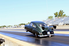 1949 Chevy drag racing (jeffyoung04) Tags: drag racing 1949 chevrolet steve young steveyoungracing martin us131 michigan sbc supercharged blown fast wanttorace