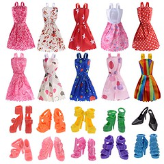 10 Pack Barbie Doll Clothes Party Gown Outfits with 10 Pairs Doll Shoes for Girl's Birthday Christmas Gift (saidkam29) Tags: barbie birthday christmas clothes doll gift girls gown outfits pack pairs party shoes