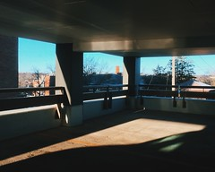 Live In A Material World (davelawrence8) Tags: michigan annarbor parkinggarage light shadow iphone 2016 spring vscocam