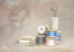Haberdashery (mtwhitelock) Tags: bobbins sewing stilllife texture haberdashery machinist