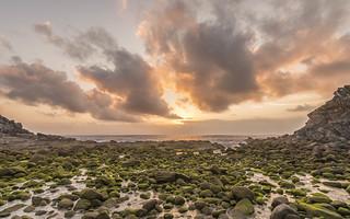 Sunset in Cies Islands