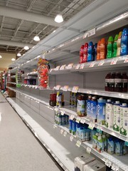 Empty water shelves at Publix, pre-Irma (SunshineRetail) Tags: publix supermarket grocerystore store portcharlotte fl florida hurricane hurricaneirma shelves empty