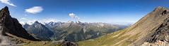 Col de Torrent - View over Val d'Hérens (Unliving Sava) Tags: lacassorte wallis aiguillerougesdarolla pignedarolla alps mountains valdanniviers valais alpen suisse montblancdecheilon zwitserland switzerland2017 switzerland lecotter valdhérens schweiz coldetorrent evolène ch