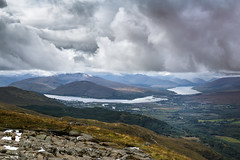 Rain clouds above the Ben Nevis Ranges, Scotland. (Odd Jim) Tags: scenic scenery scotland clouds weather rain canon6d 24105l travelling holiday mountains view landscape water lakes beautiful