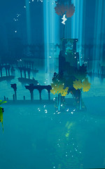 Ruins Underwater (Gothicpolar) Tags: abzu game underwater sea beautiful artstyle giant squid games pc color water