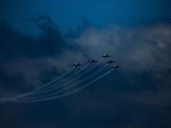 Soar Like an Eagle (Steve Taylor (Photography)) Tags: black blue monocolour monocolor newzealand nz southisland canterbury christchurch newbrighton northnewbrighton cloud sky plane aeroplane aircraft fighter royalnewzealandairforce