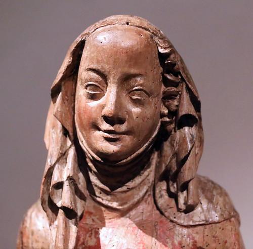 IMG_9407B X Bohême  Prague vers 1370 St Cunigund of Stanetice.  Prague Narodni Galerie. Prague National Gallery.  Couvent Sainte Agnès de Bohême. The Holy Empress Cunigund (+1033) is the consort of the Emperor Henri II  La sainte impératrice Cunigund (+10