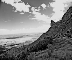 Mesa Verde Landscape (Vulperine) Tags: bw blackandwhite danielbremer vulperine emotion view beauty monochrome landscape mesa verde colorado scenic scene outdoors sky clouds hills monochromatic color saturation contrast deep dof new technology vintage style historic past future summer spring seasons timeless unspoilt nature natural camera analog film 4x5 format brownie polaroid digital scan negative trix kodak resolution discovery west meta geology environment ecosystem ecology wildlife record archive photographic print quality ancient world eyesight curvature trip fall countryside meadow landschaft