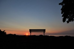 Seats Still Available (ryand1975) Tags: sunrise sun silhouette burlington bfg bench canada ontario iamcanadian nikond5100