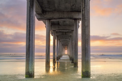 Scripps Pier (lahorstman) Tags: sunset lajolla california scrippspier sandiego alignmentatscrippspier canon lahorstmanphotography ocean westcoast clouds leefilters sleeklens sirui leahhorstman