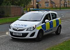 KS64EKU (Cobalt271) Tags: ks64eku northumbria police vauxhall corsa 13 cdti npt vehicle proud to protect livery