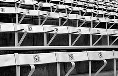 Stadium Seating (pjpink) Tags: stadium seats seating blackandwhite bw monochrome thediamond diamond baseball scottsaddition rva richmond virginia june 2017 summer pjpink 2catswithcameras