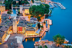 Lake Garda, Town of Riva del Garda, Italy (blue hour) (Girolibero Cycling Holidays) Tags: europe italy night old tourism aerialview architecture beach benaco bluehour brescia building church garda gardalake holiday house italianvillage lake lakebenaco lakegarda lakeofgarda landscape lemmon lombardia lombardy milan nature oldvillage panorama pilon postcard reflection riva rivadelgarda torbole tower town trentino trentinoaltoadige turism vacation veneto verona view village water wood wooden